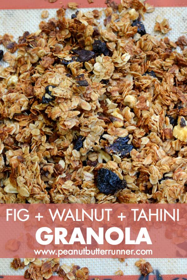 Fig, Walnut and Tahini Granola