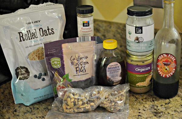 Fig, Walnut and Tahini Granola Ingredients