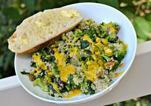 Kale, Quinoa and Broccoli Salad