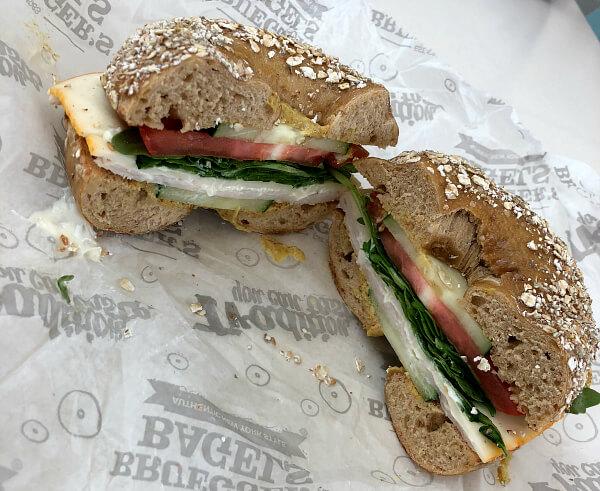 Brueger's Bagel Sandwich