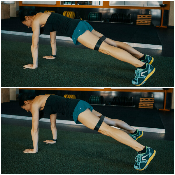plank walks core exercise
