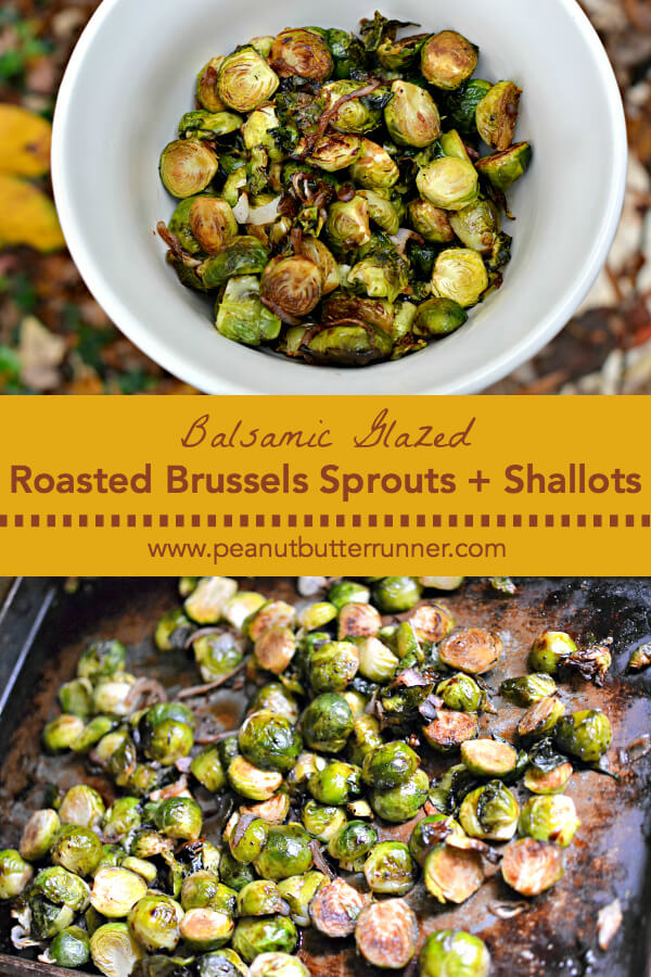 Balsamic Glazed Roasted Brussels Sprouts
