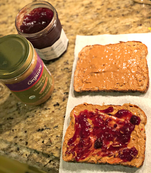 non-soggy peanut butter and jelly