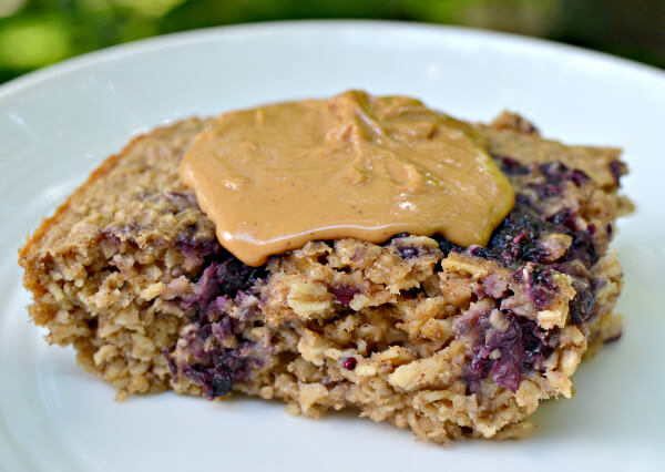 Peanut Butter and Chia Jam Baked Oatmeal