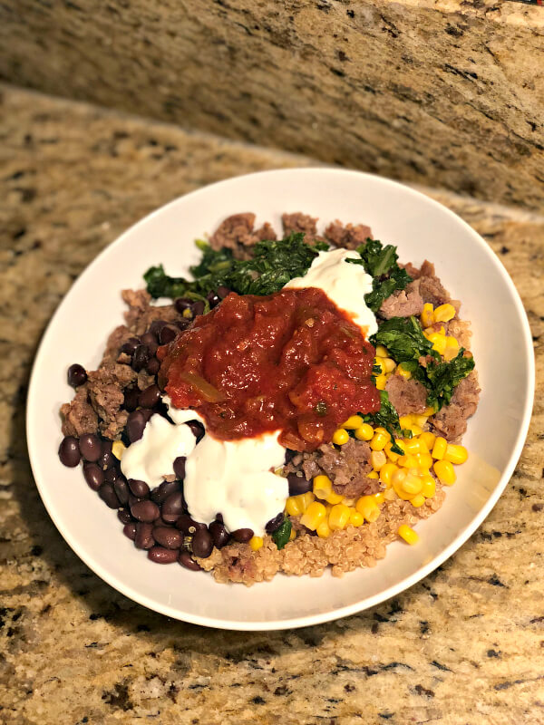 Mexican Quinoa Grain Bowl with Ground Beef