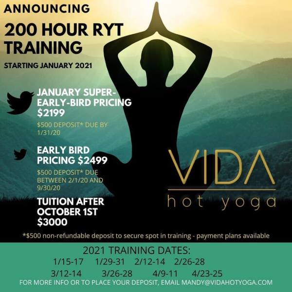 VIDA Hot Yoga 200-Hour Teacher Training