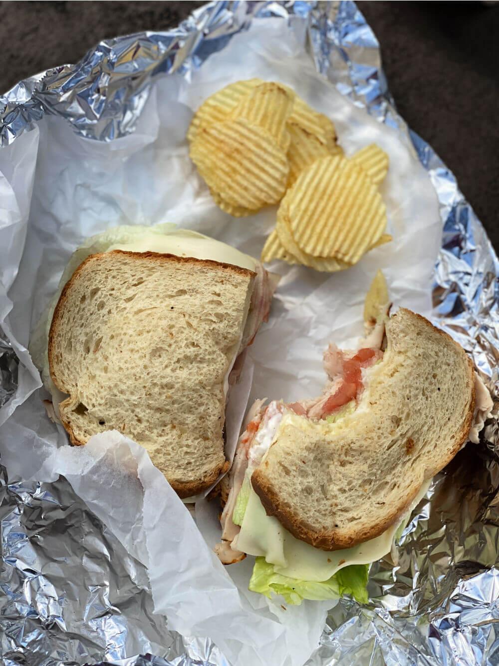 turkey deli sandwich