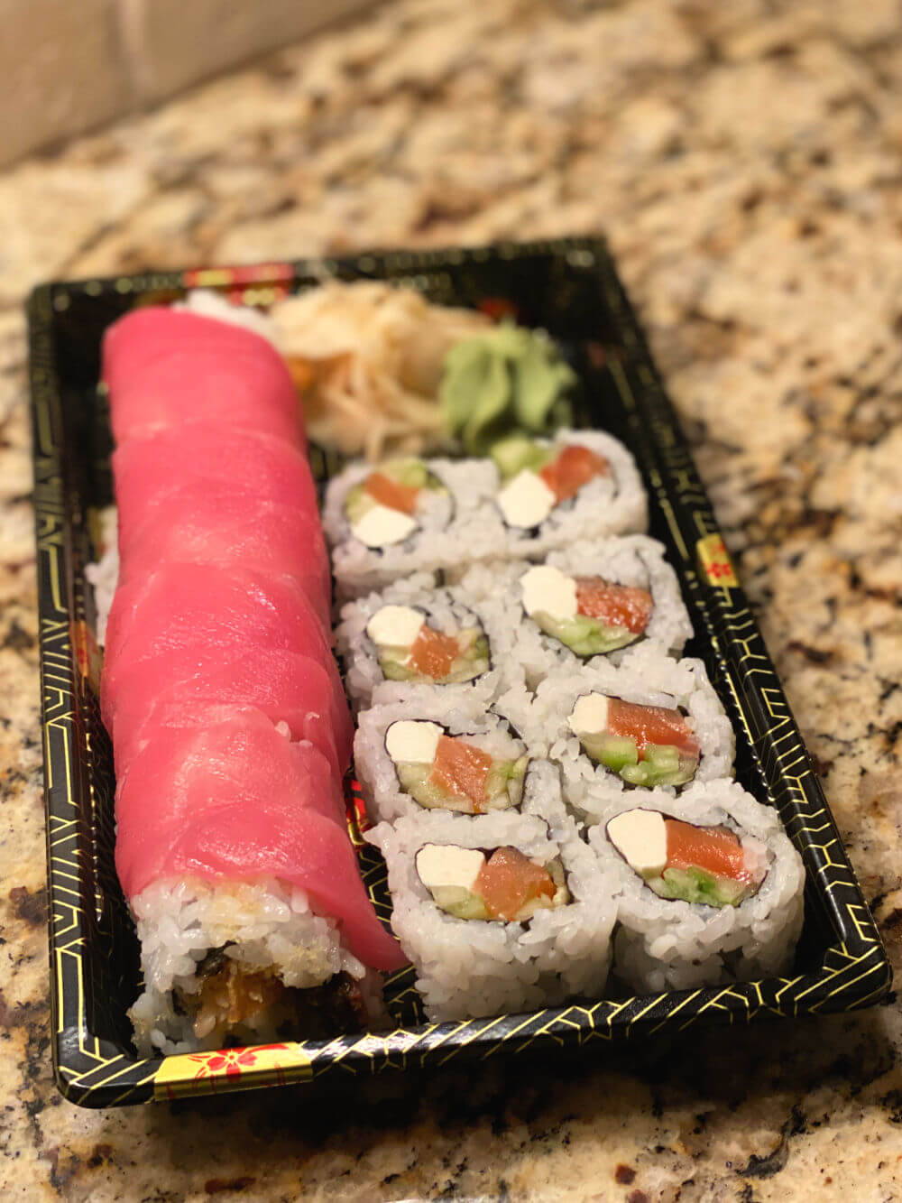 takeout sushi