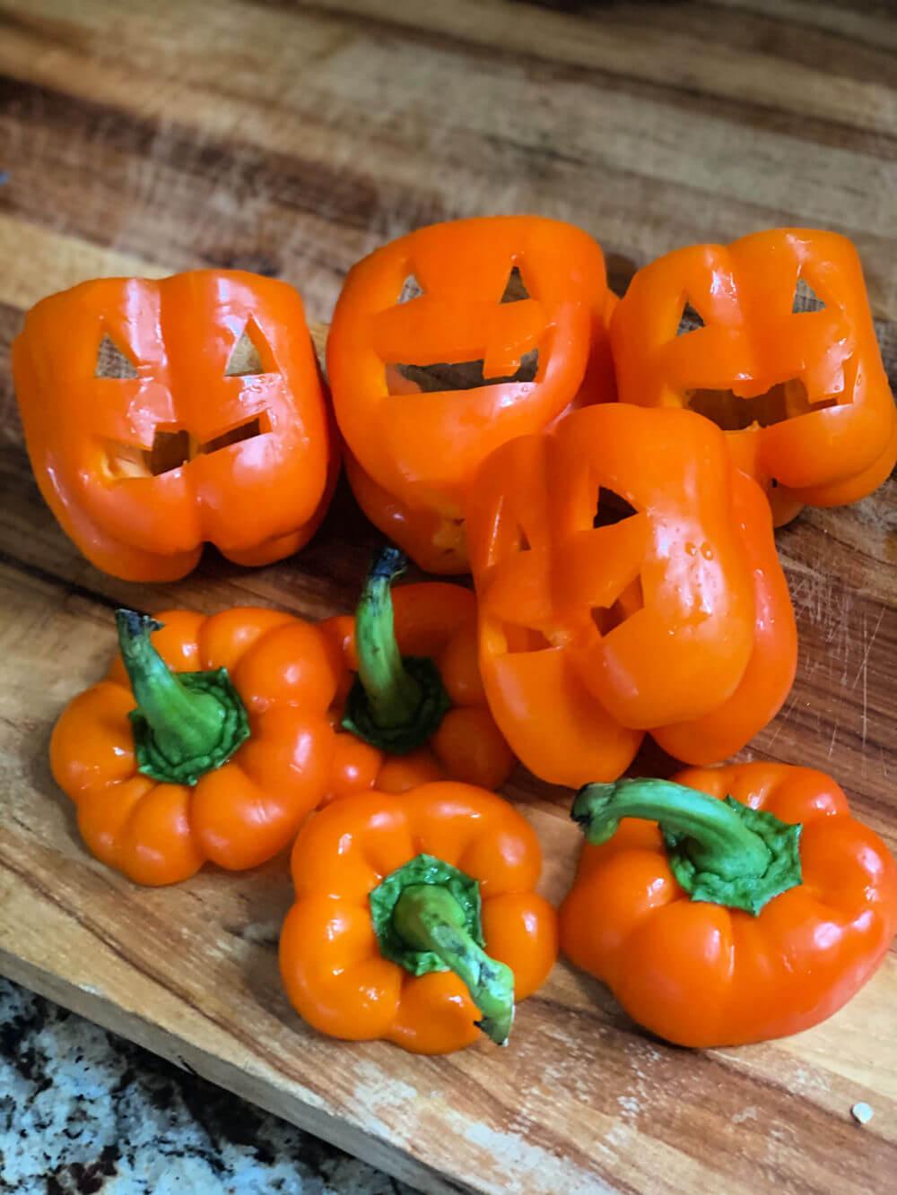 jack o' lantern bell peppers