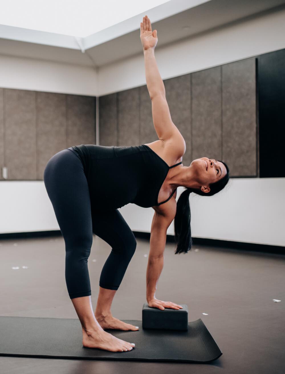 using blocks in yoga pregnant