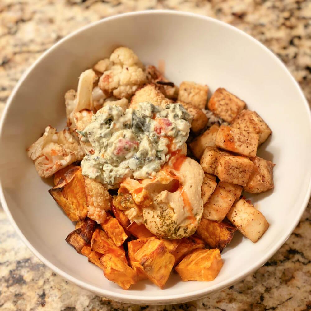 tofu grain bowl