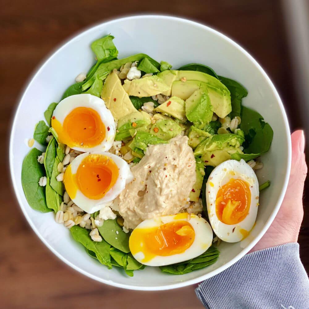 jammy egg salad