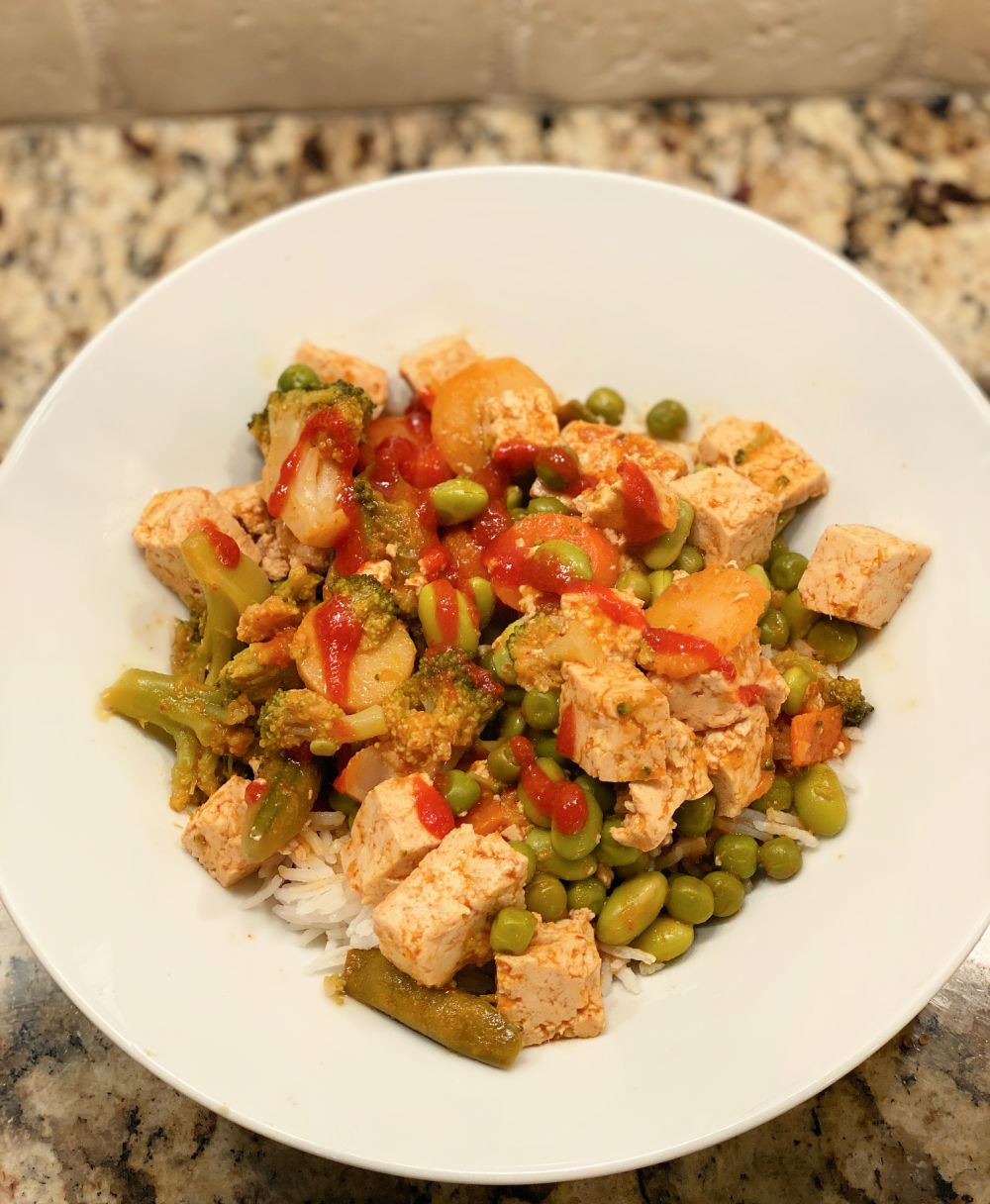easy homemade Thai red coconut curry