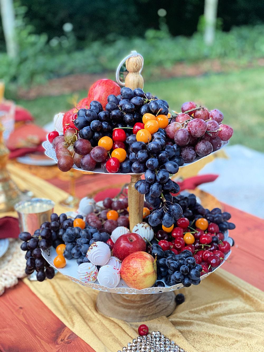 fresh fruit and cake balls