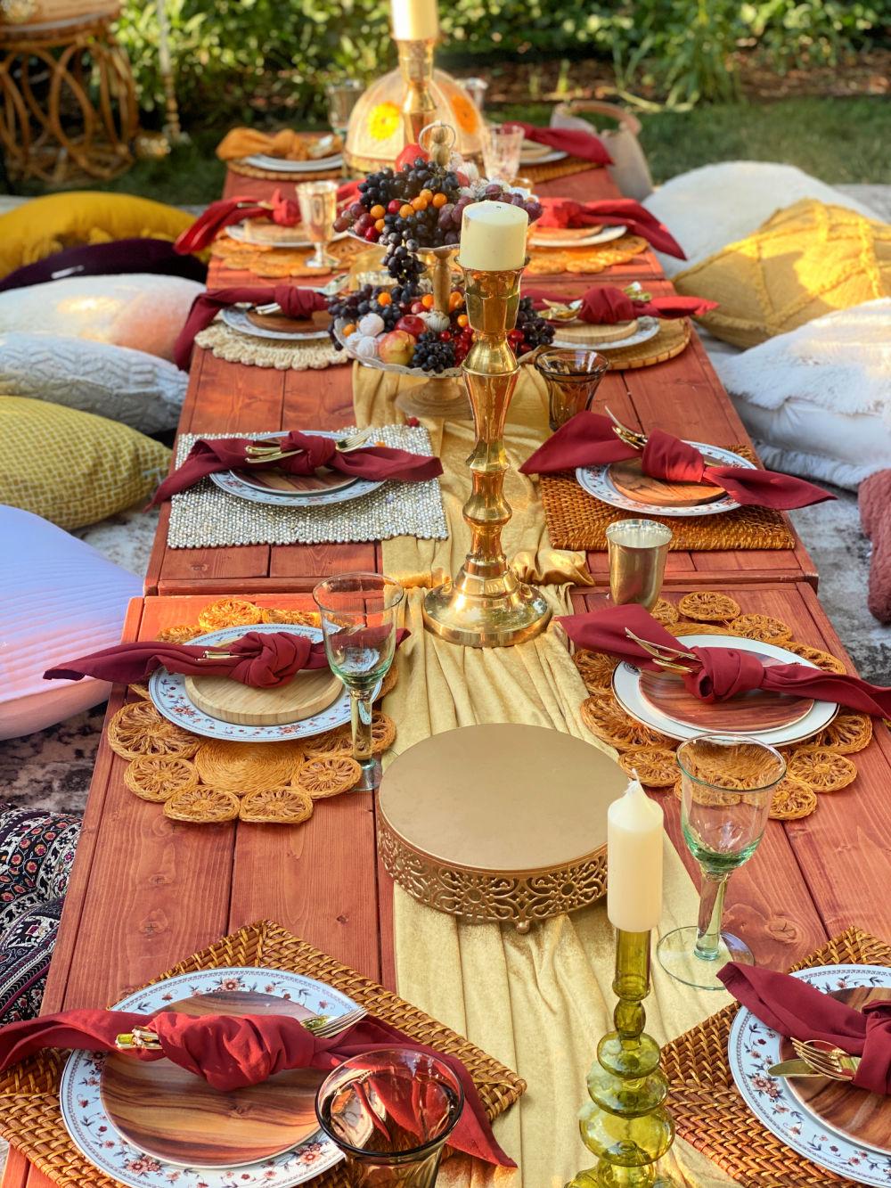 boho backyard picnic