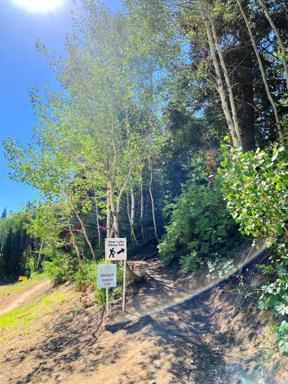 silver lake hiking trail deer valley