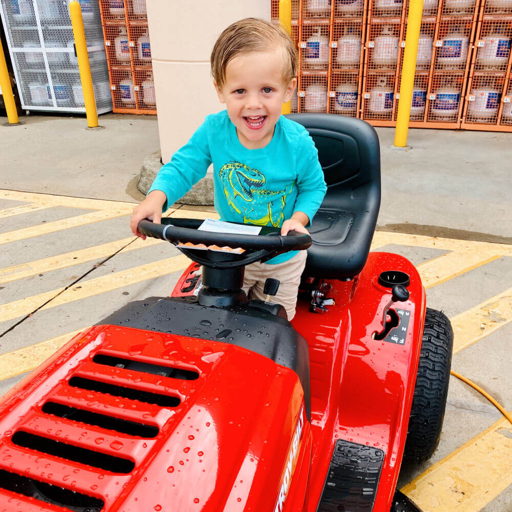 Home Depot with a three year old