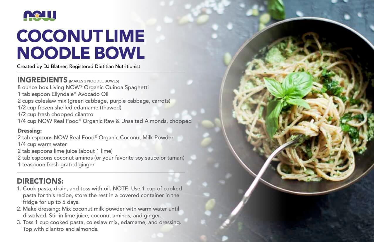 coconut lime noodle bowl recipe
