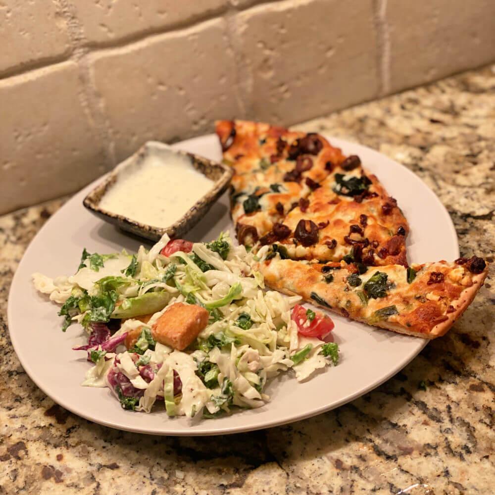Whole Foods Mediterranean pizza