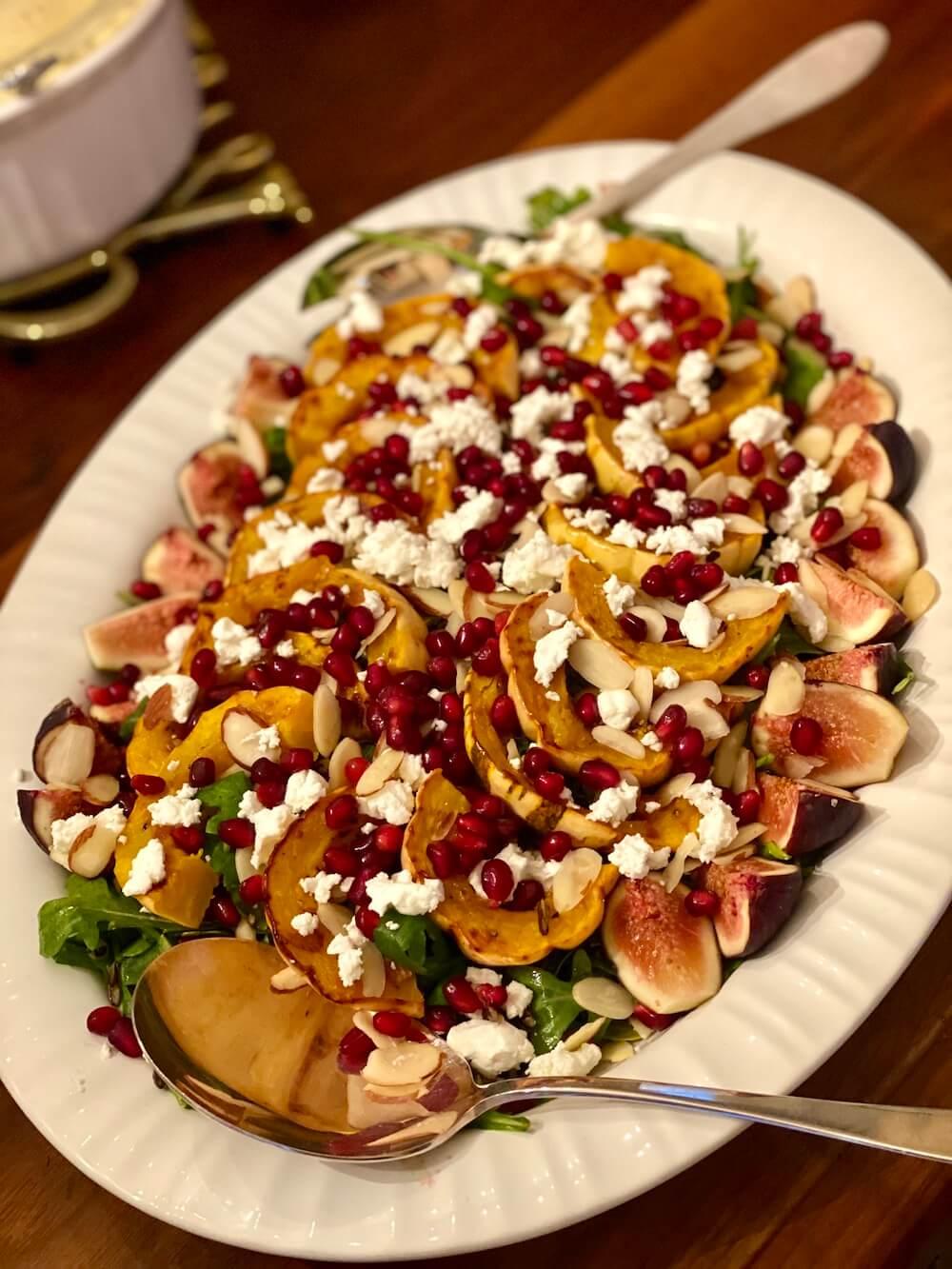 arugula salad with delicata squash