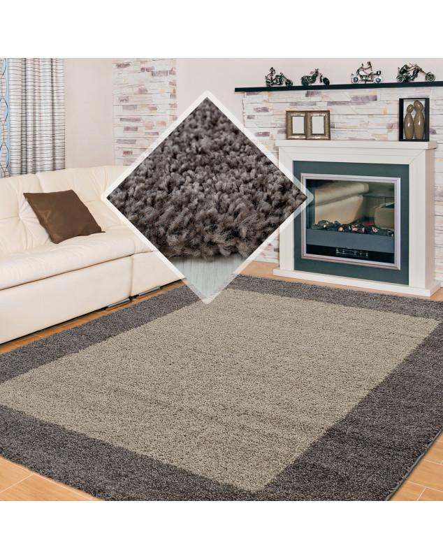 structure a fibres longues salon shaggy tapis 2 couleurs de la hauteur de la pile de 3cm taupe moka couleur taupe taille 60x110 cm