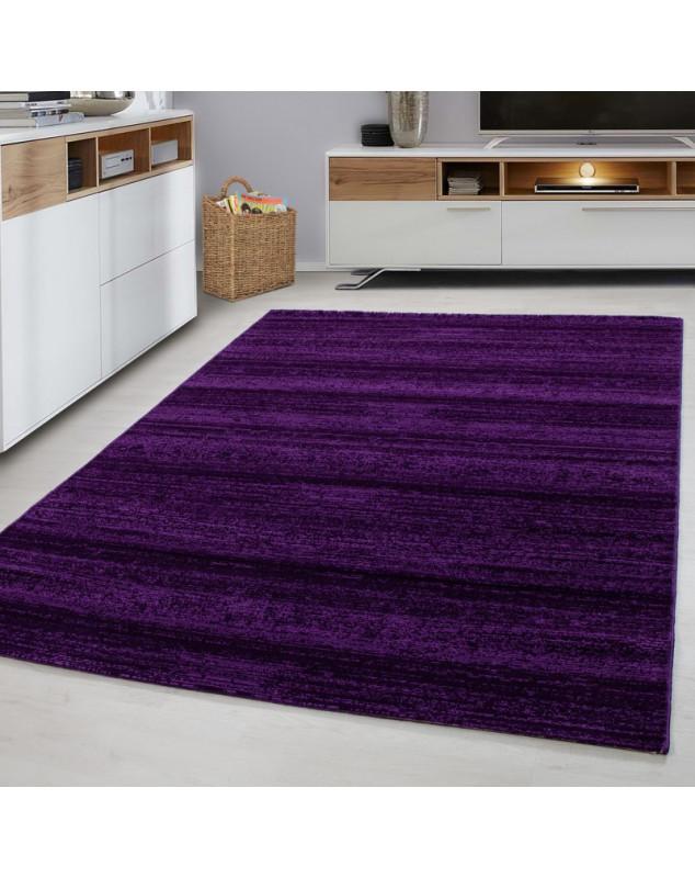 designer salon chambre tapis art mural carre plus violet taille 80x150 cm
