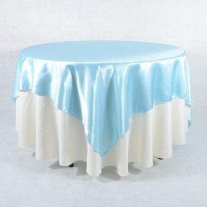 Light blue Satin overlay