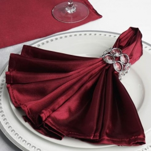 Burgundy Satin Napkins