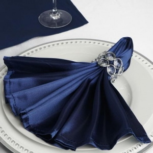 Navy Satin Napkins
