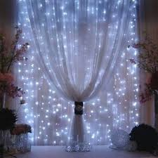 Cool White curtain lights