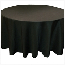 Black tablecloths