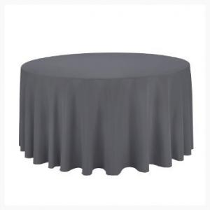 Grey Round tablecloth