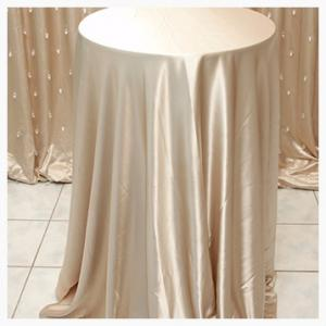 Champagne Satin tableclths