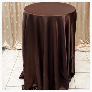 Chocolate Brown Satin tablecloths