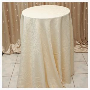 Ivory damask tablecloths