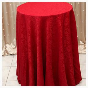 Red damask tablecloths