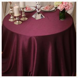 Purple tone on tone tablecloths