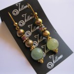 Jade and Gold Pearl Earring