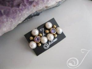 Maja Amethyst Pearl Earrings