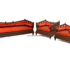 Cushions For Wooden Sofa India Leather 10 Seater Set Indian Home And Office Pearl