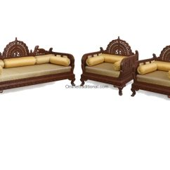 Indian Style Sofa Set Designs Ashley Sofas Design Carving Teak Wooden Maharaja Sets Pearl