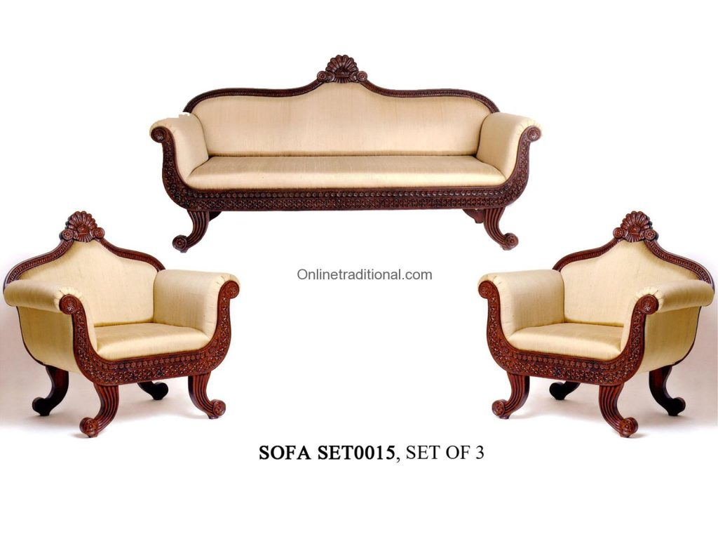 box sofa set designs upholstery teak wood sets traditional and carving