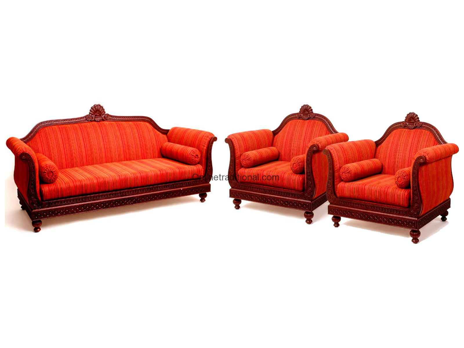sofa set designs for indian homes cushion ideas red leather sets teak wood design home pearl handicrafts 018