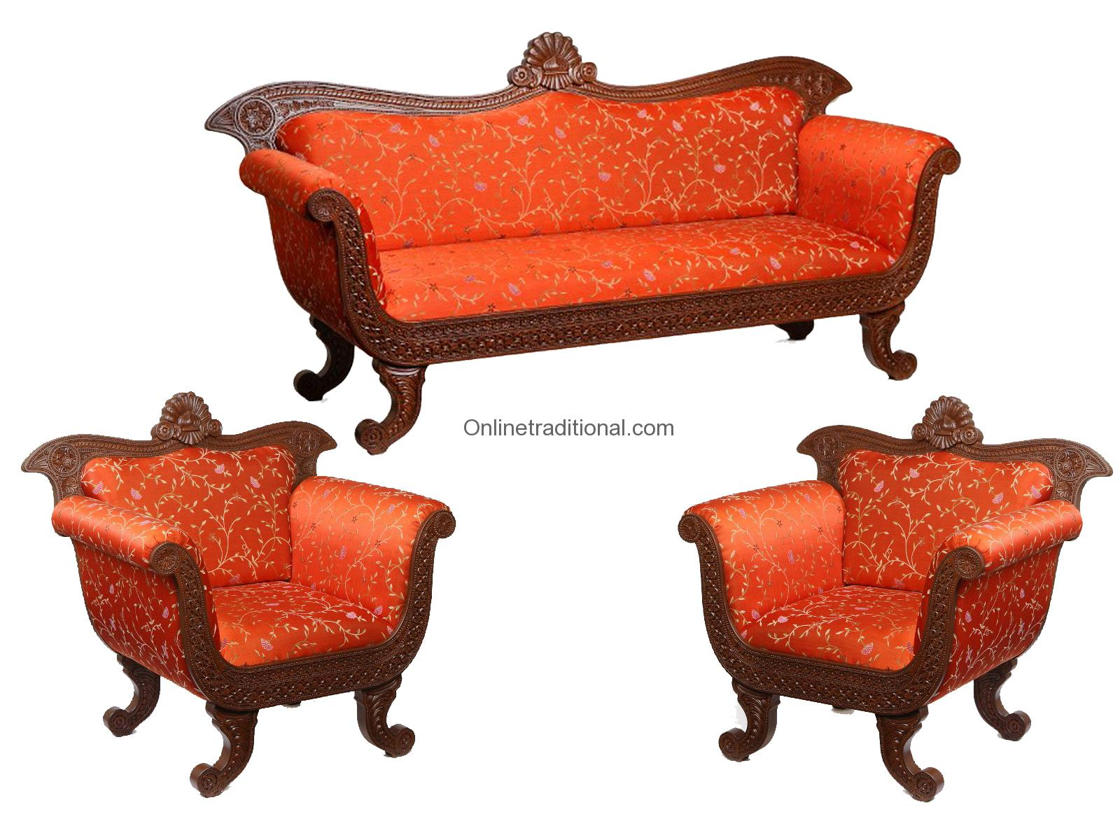 furniture sofa set online dylan leather corner with chaise order unique teak wood at pearlhandicrafts