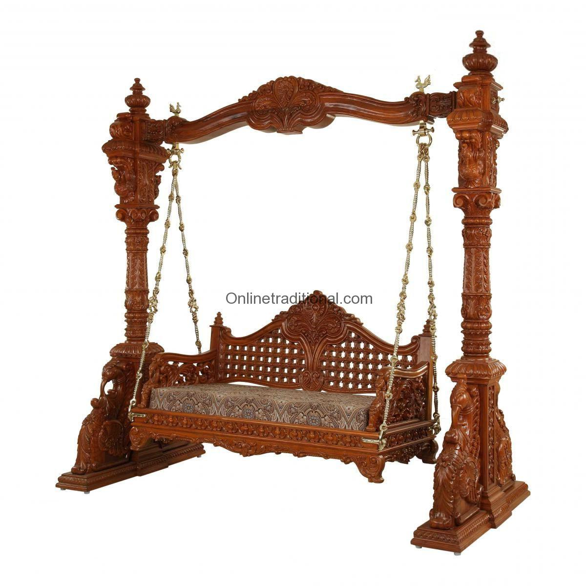 basket swing chair india glider chairs for sale an antique carved teak set by pearlhandicrafts