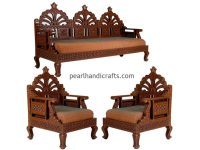 Carving, Circular, Rajasthani,Traditional Teak Wood Sofa ...