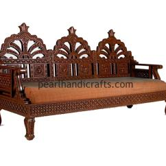 Wooden Carving Sofa Online India Large Decorative Pillows For Circular Rajasthani Traditional Teak Wood