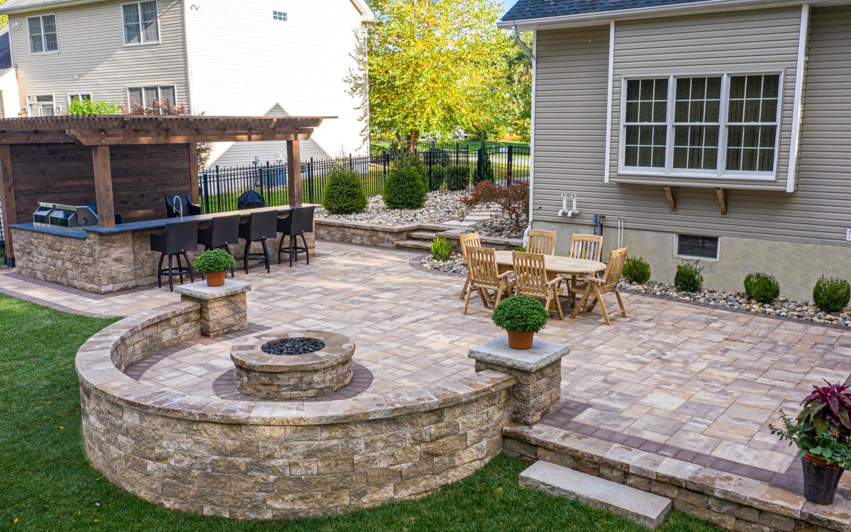 paver patio project halfmoon