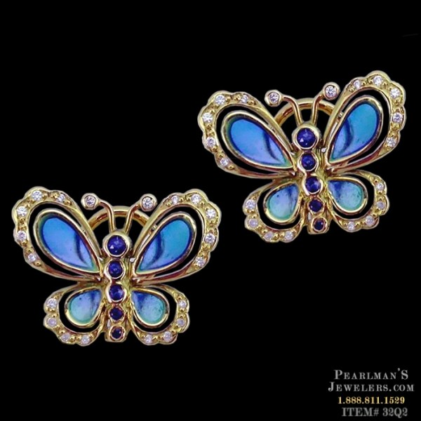 Nouveau Collection Jewelry Blue Sapphire And Diamond