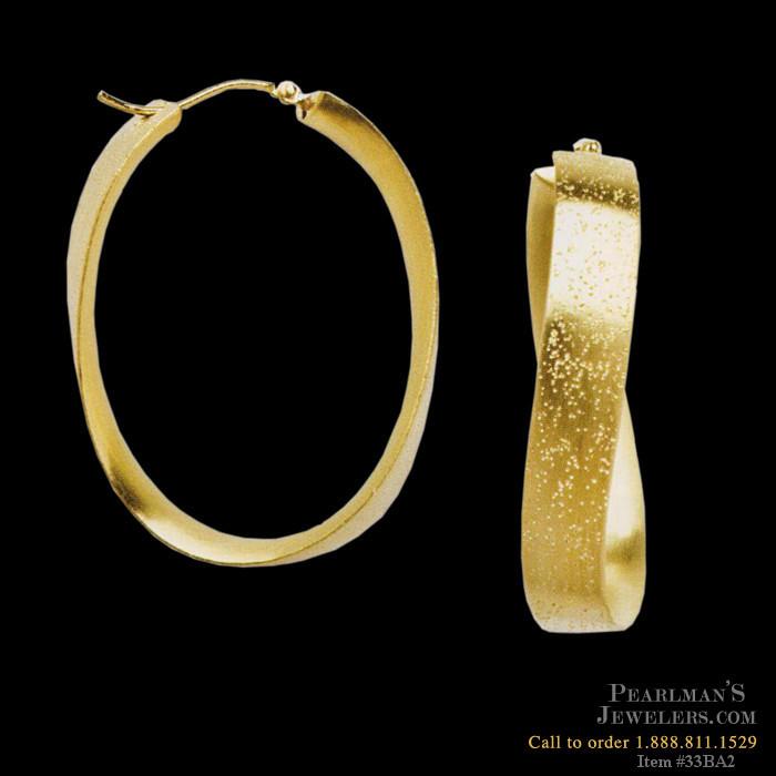Bastian Inverun Jewelry Diamond Dust Gold Earrings